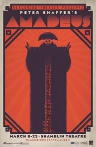Poster designed by Tim Parker for Blackbird Theater of Nashville.
